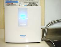 病院内へ設置した「日本トリム」の整水器